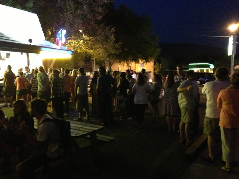 Entire town came out for ice cream