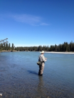 Kissel in the Kasilof River with Tyson