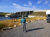 Ed in front of the dam